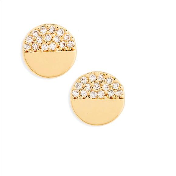 BP circle stud earrings